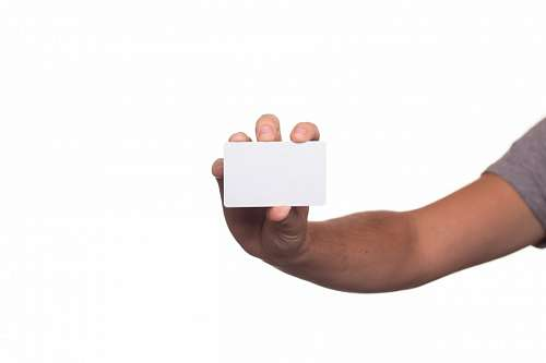 tarjeta en blanco