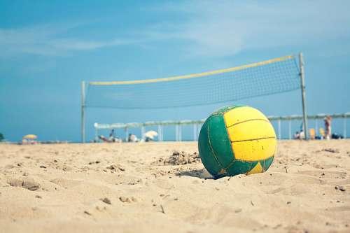 pelota, arena, balon, playa, amarillo, sol, verano