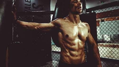 imágenes gratis Hombre entrenando en el gimnasio