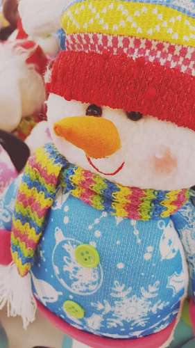 imágenes gratis Muñeco de nieve navideño