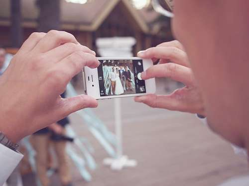 imágenes gratis Fotografiando a los flamantes casados