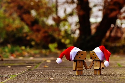 imágenes gratis Danbos de la mano navideños