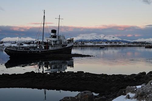 Barco abandonado en Ushuaia