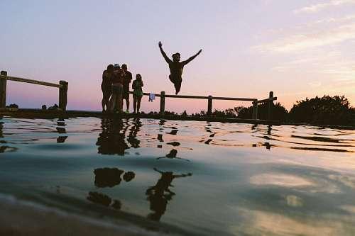 imágenes gratis Salto al agua
