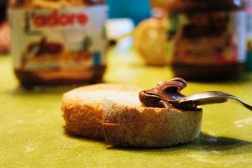 Tostada con nutella