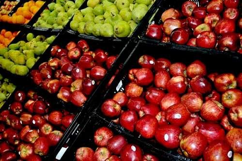 imágenes gratis supermercado, comercio, fruta, frutas, venta, manz