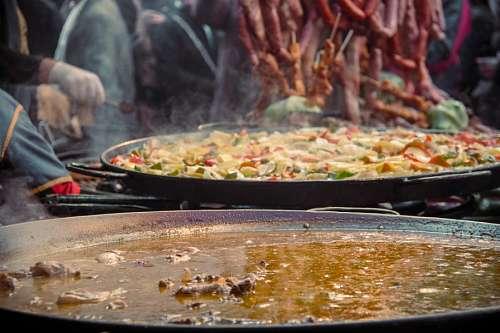 cocinero, comida, europa, europeo, gourmet, paella