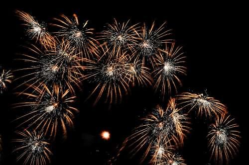 imágenes gratis Celebración con fuegos artificiales en Año nuevo 2017