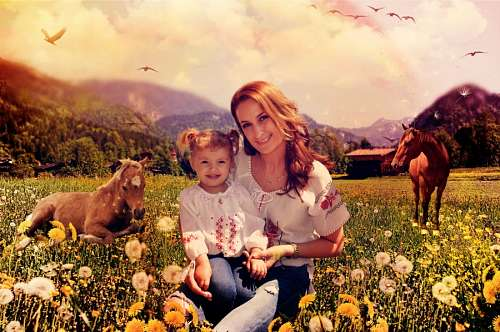 imágenes gratis Madre e Hija