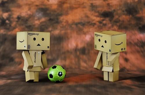 imágenes gratis Danbos jugando futbol