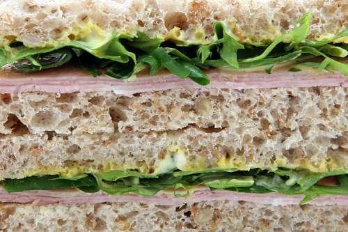 Sandwich de Jamon y Lechuga