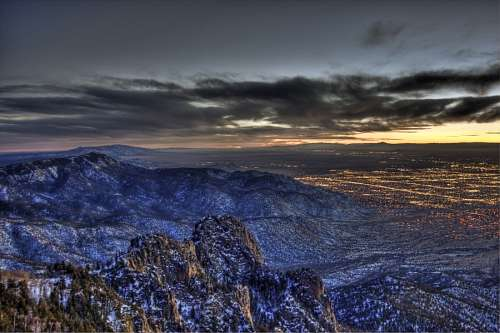 imágenes gratis Atardecer en Albuquerque