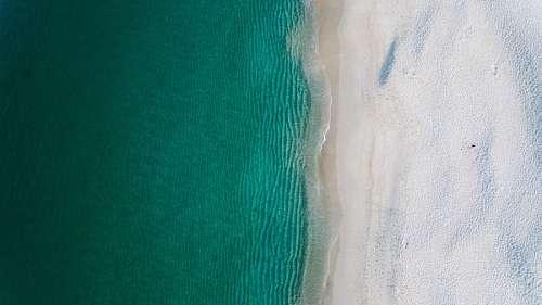 Drone POV beach