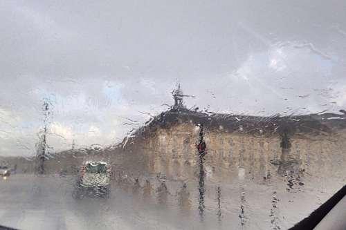 plaza, dia, lluvia, vidrio, mojado, tormenta, mal