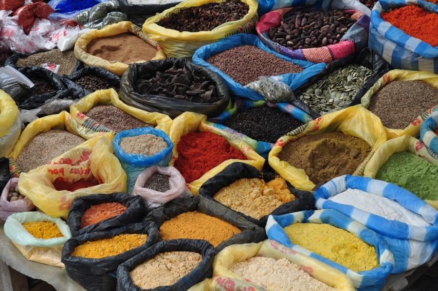 mercado, especia, especias, condimento, sabor, america, latino, bolsa, venta, comercio, saborizar,