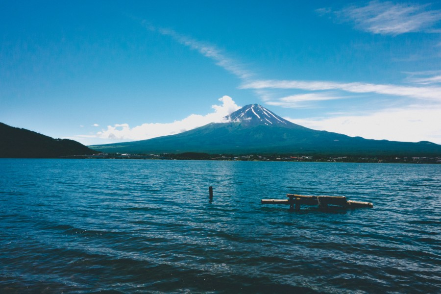 volcan, paisaje, nadie, japon, lago, dia, primer plano, vista de frente,