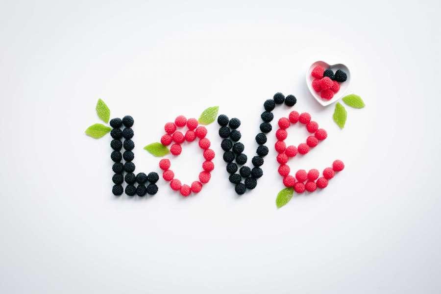 amor, frutal, fruta, concepto, letras, frambuesa, mora, baya, comida, concepto, dieta, saludable, habito, adelgazar, salud, alimentacion,