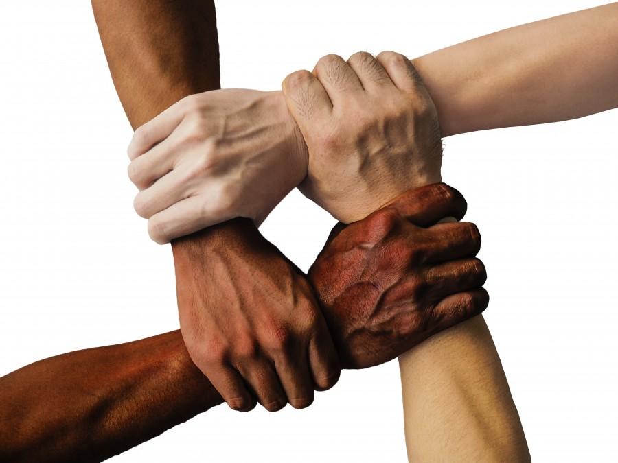 mano, manos unidas, unidos, juntos, personas, unidad, equipo, trabajo en equipo, grupo, de la mano, unión, apoyo, amistad, cooperación, comunidad, explotación, la paz, diversidad, conexión, armonía, armonía en la diversidad
