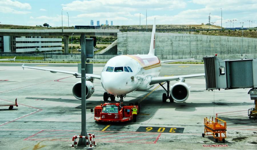 aeropuerto, avion, transporte, manga, dia, arquitectura, maquinaria, industria,
