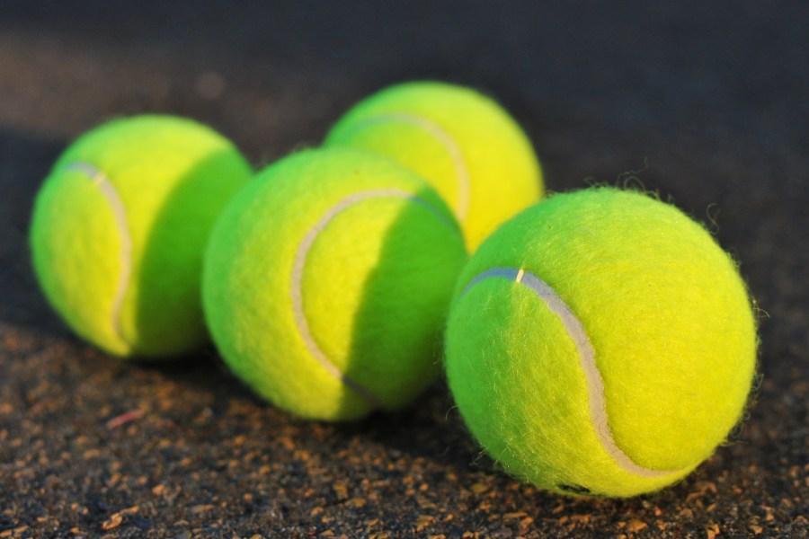 Imagen de pelota, pelotas, tenis, cuatro, color, verde