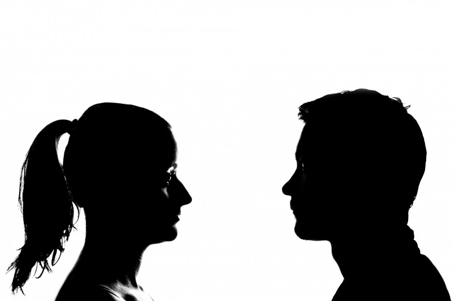 Silueta Hombre Y Mujer: Imagen De Silueta Hombre Y Mujer
