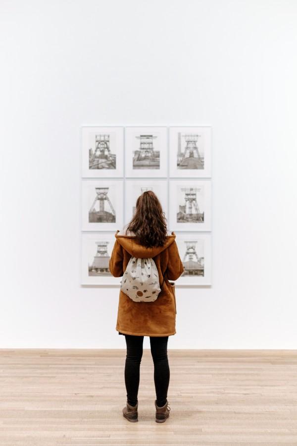 una persona, gente, mujer, museo, mirar, arte, cuadro, observar, cuadro, galeria,