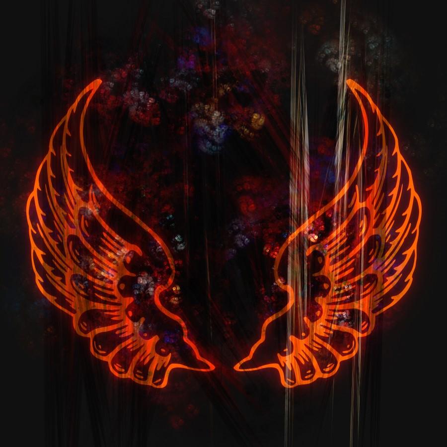 alas, resumen, fractal, diseño, icono, símbolo, mosca, plantilla, emblema, artística, textura, fresco, vuelo, forma, tatuaje , ilustraciones gratis,  imágenes gratis, fondo de pantalla hd