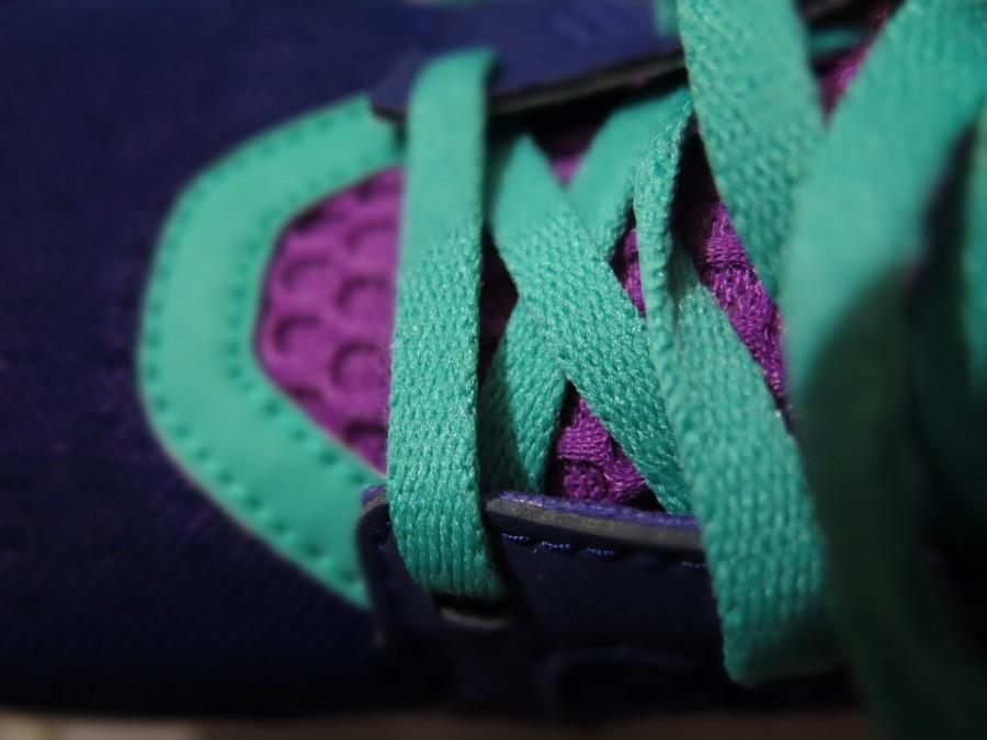 cordones, zapatilla, deportivo, color, colorido, turquesa, detalle, calzado, primer plano,