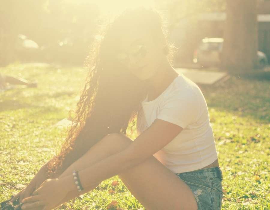 mujer, chica, gente, personas, contraluz, sol