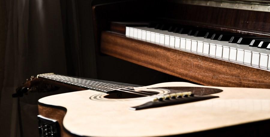 Guitarra, piano, instrumento, instrumentos, musica, musical, musicales,