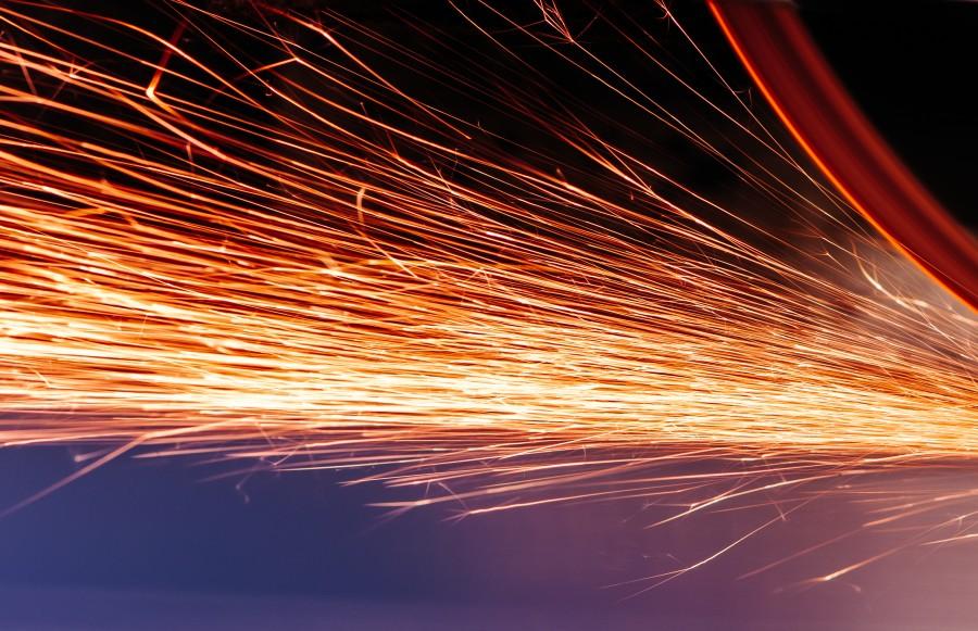 extracto, fondo, brillante, escritorio, electricidad, ingenieria, fuego, amoladora, luz, chispas, fondo, background,