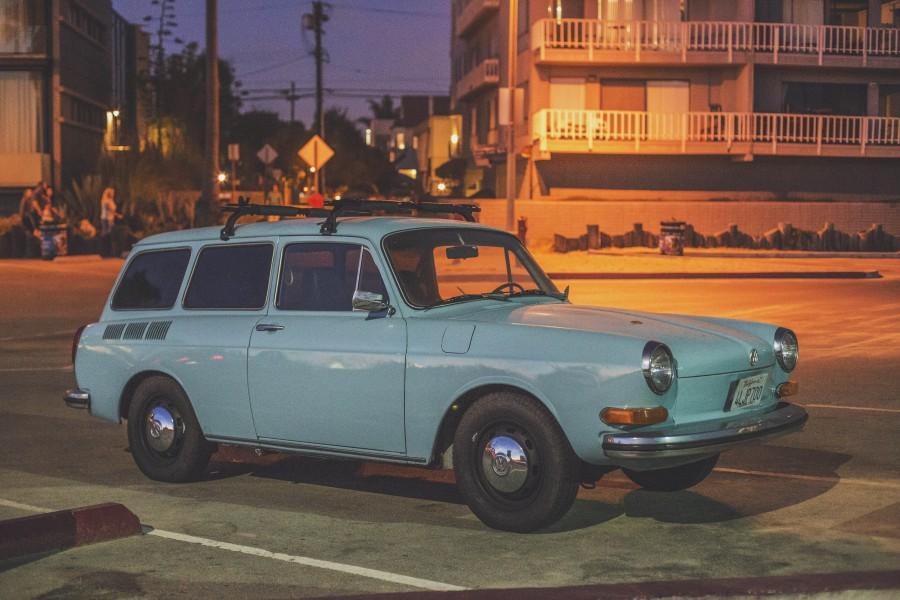 vintage, auto, coche, carro, turquesa, nadie, urbano, 70s,