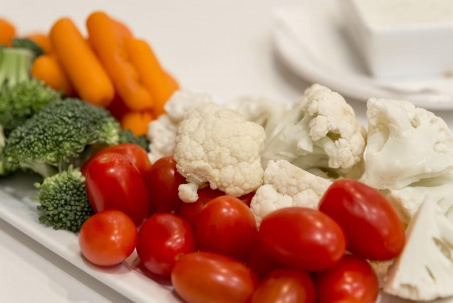 ensalada, vegetales, vegetal, coliflor, zanahoria, brocolia, saludable, comida, nadie, fresco, tomate cherry