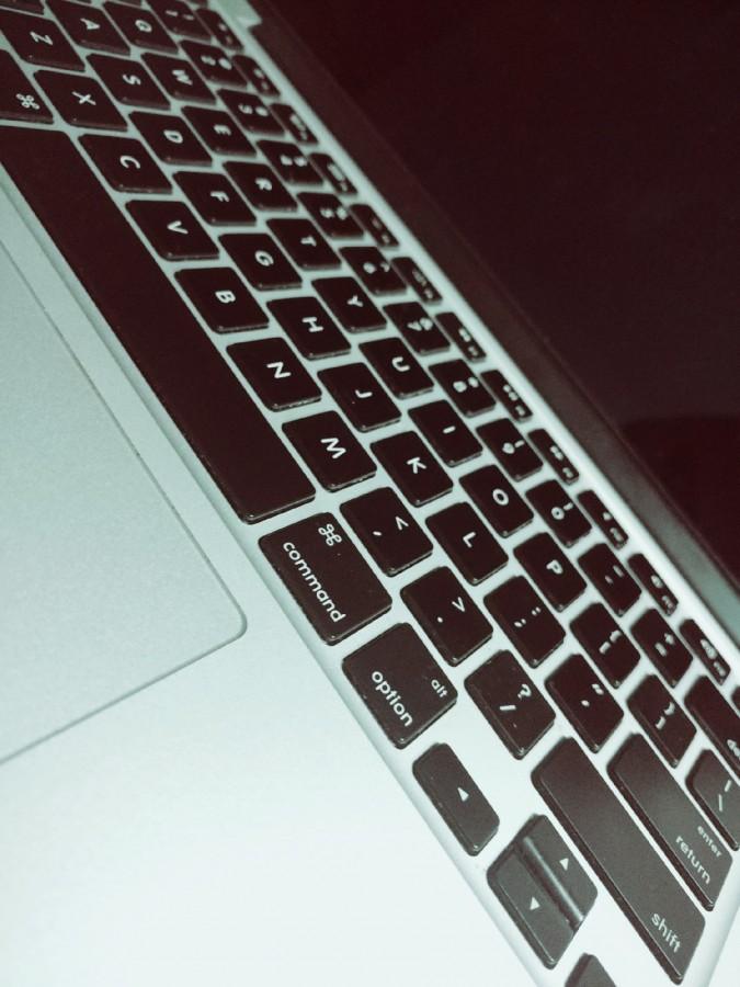notebook, portátil, ordenador, escritorio, teclado, letras, llaves, negro, trabajo, pantalla, oficina, lugar de trabajo