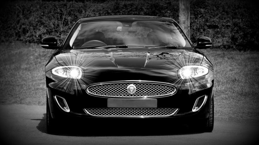 Audi Sports Car >> Imagen de Coche Jaguar negro para fondo de pantalla ...