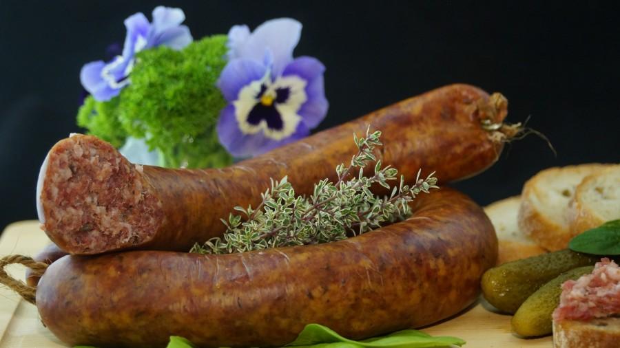 salchicha, alimentos, comer, comidas y bebidas, delicioso, sustanciales, carnes curadas, comidas caseras, embutidos, pepinillos