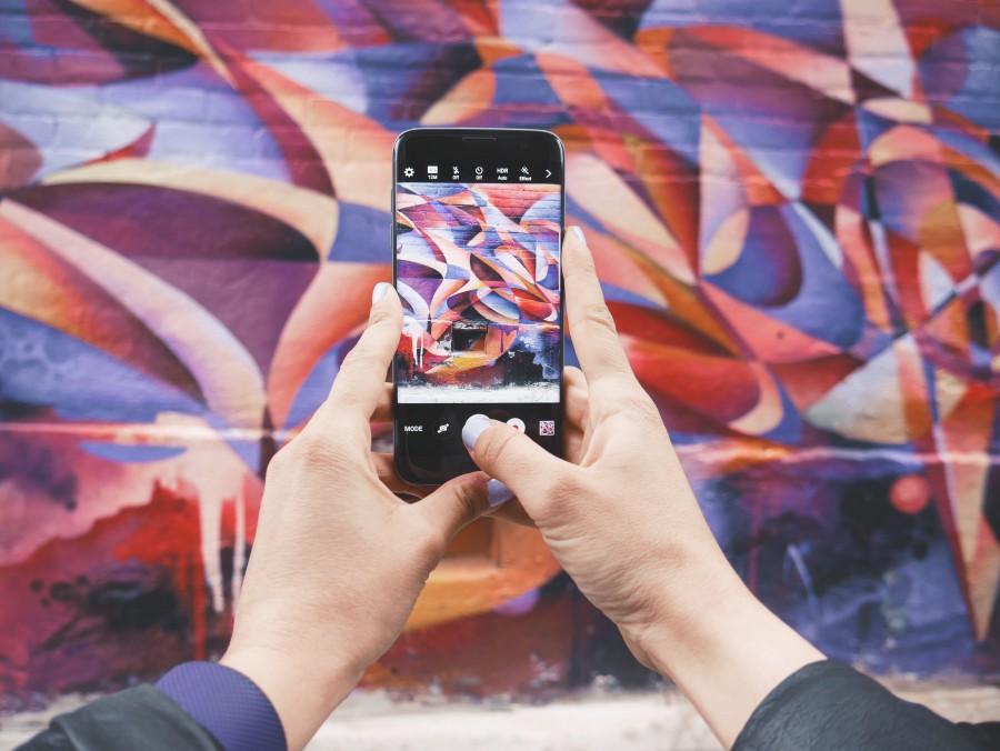celular, background, colores, fotografia, foto, arte, tecnologia, graffiti,