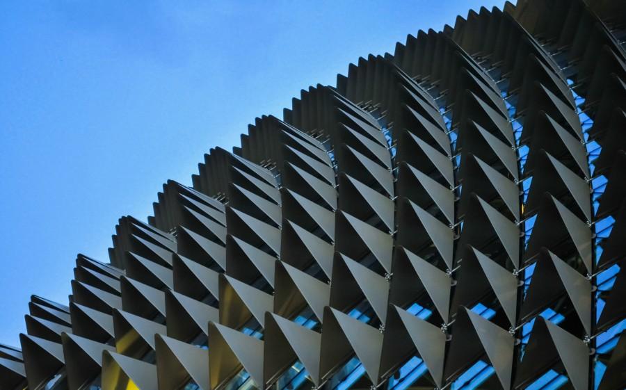 Asia, abstracto, abstracto, arquitectura, metal, singapur, estructura, suface, textura,