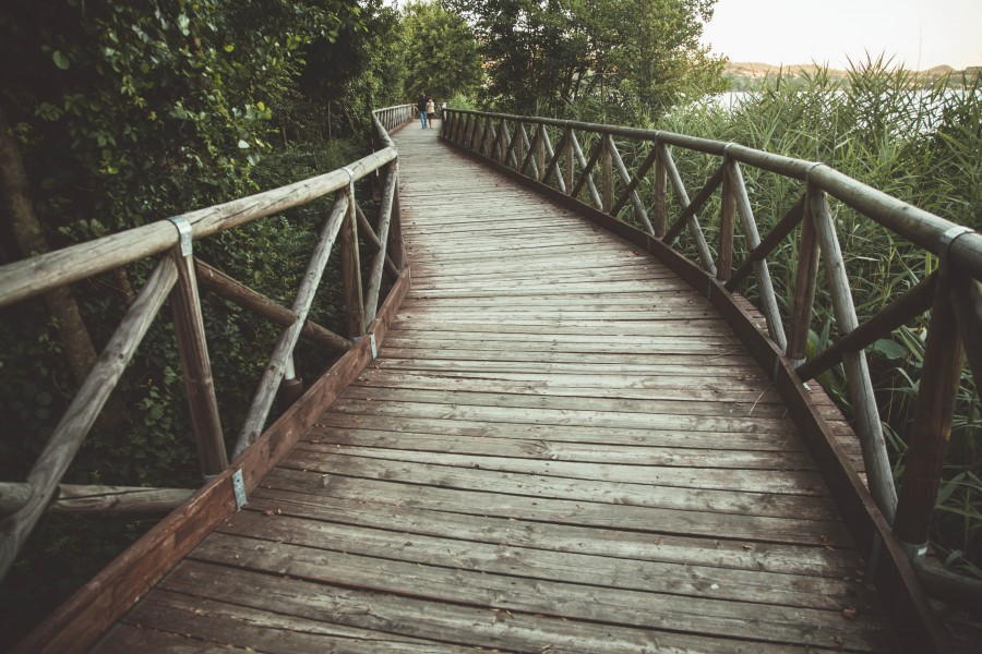 imagen de puente de madera