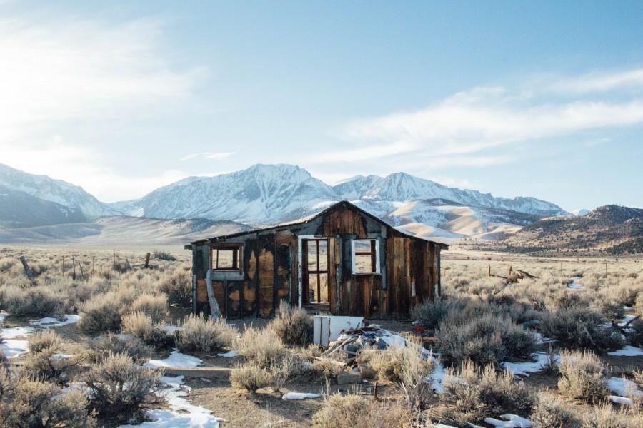 cabina, granero, rústico, caminata, al aire libre, nave abandonada, montañas, california, arizona, mexico, nevada, paisaje