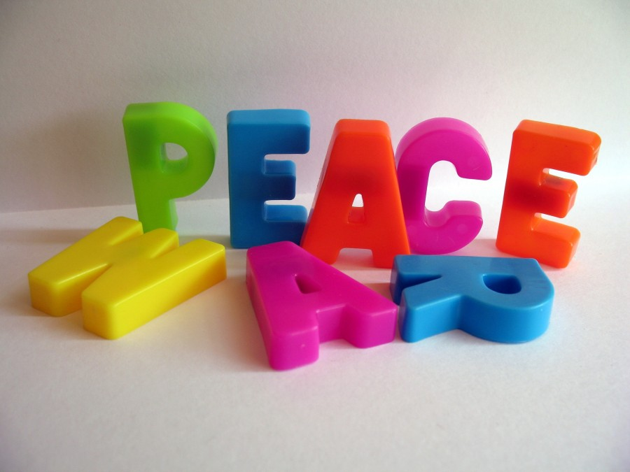 paz, letra, letras, concepto,
