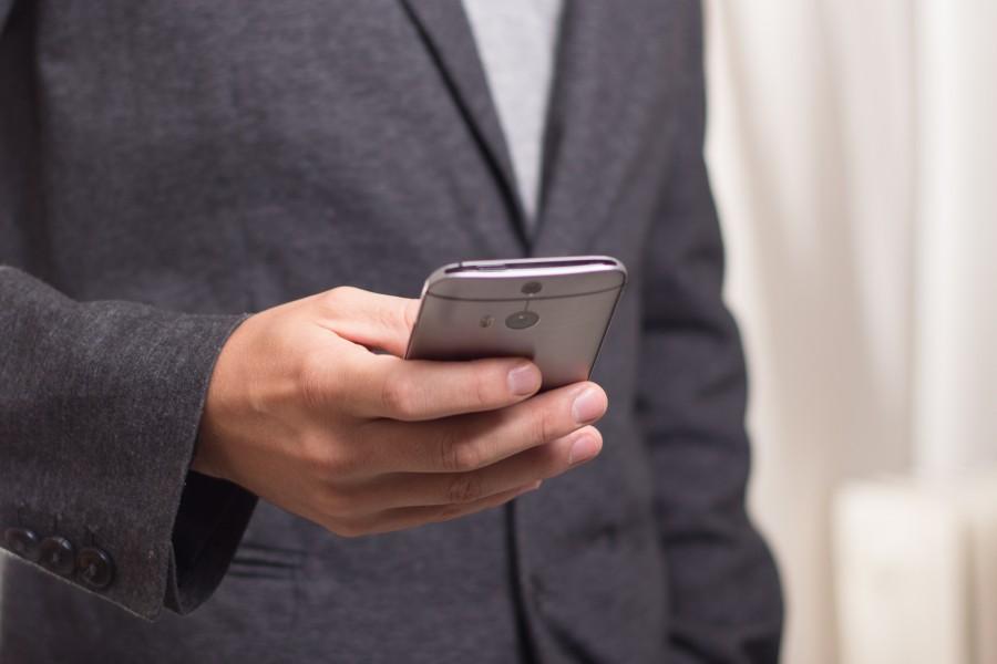 hombre, negocios, telefono, smartphone, celular, tecnologia, traje,