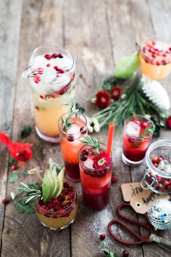 bebida, cocktail, bebida alcoholica, frutal, nadie, variedad, cereza, frutas