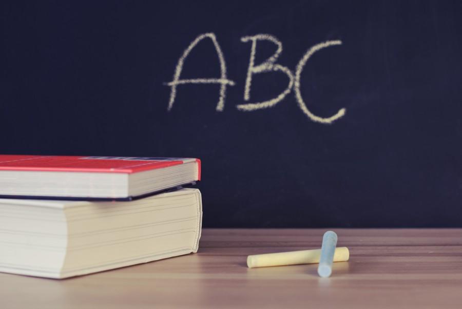 escolares, libros, escritorio, pizarra, tiza, letras, abc, aprendizaje, alfabeto, nadie, cartas, escolar, libro,