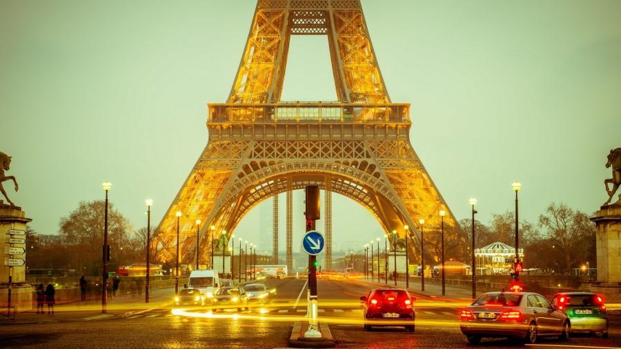 torre eiffel, paris, francia, iluminado, dia, europa, avenida, monumento,