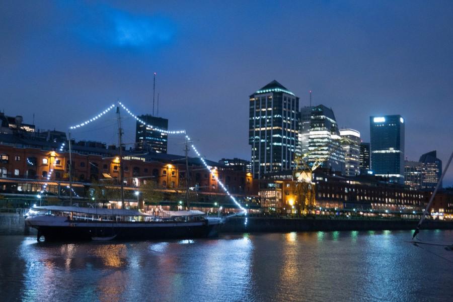 puerto madero, buenos aires, argentina, noche, ciudad, arquitectura, edificios, nocturno, luces, moderno,
