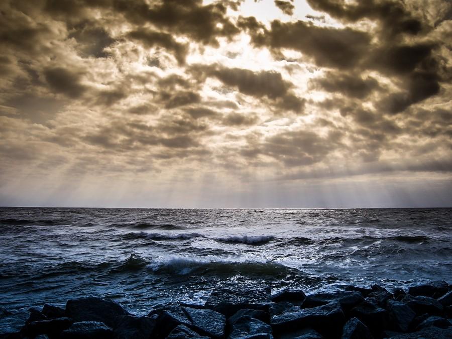 mar, atardecer, paisaje, costa, nadie, naturaleza,