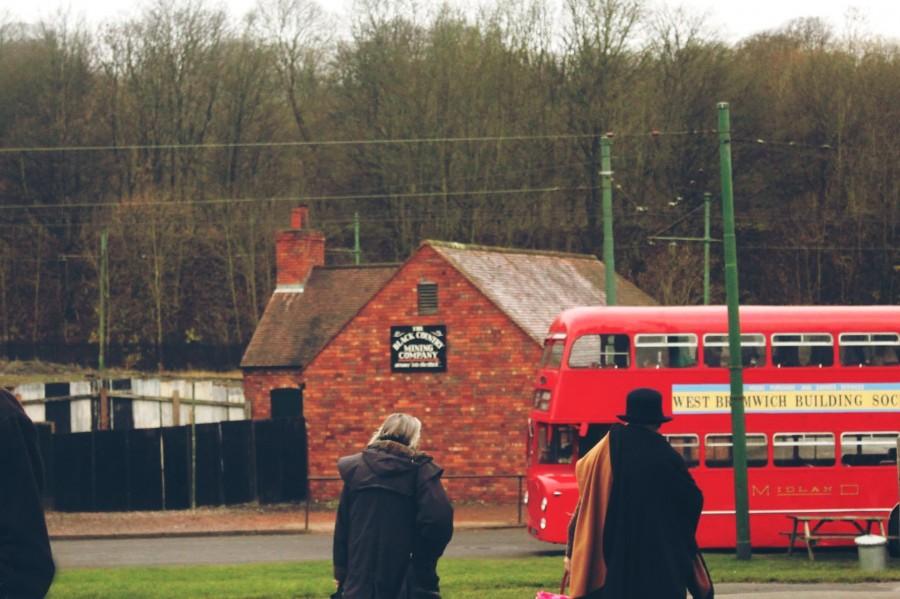 bus, londres, inglaterra, europa, rojo, gente, dia, escena, urbano, urbana, transporte, tipico, invierno,