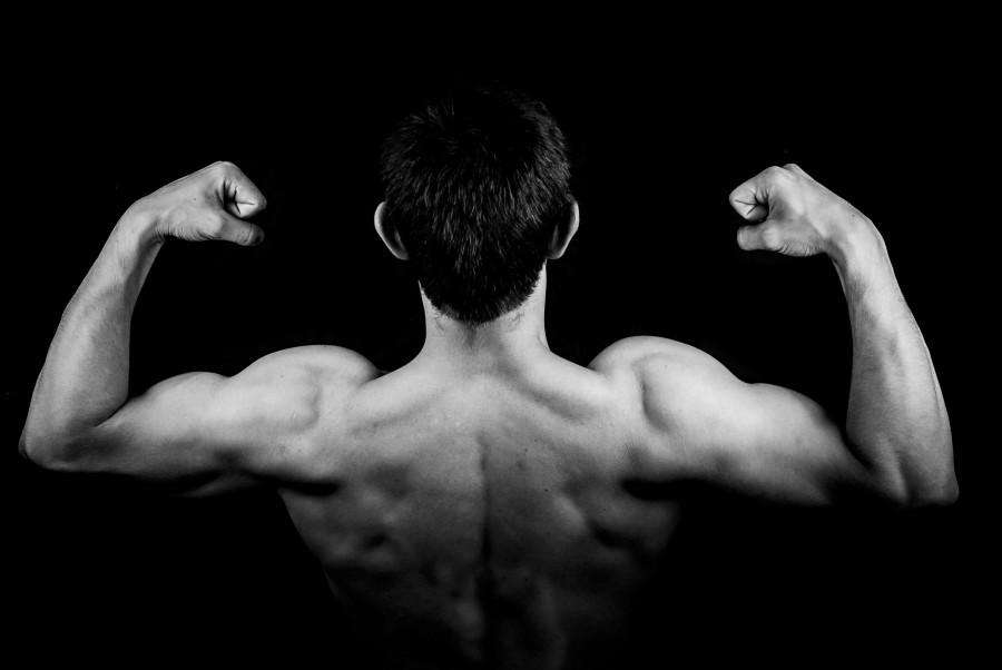 hombre, gym, gimnasio, deporte, espaldad, fuerte, fuerza, salud, vitalidad, joven, 20 años, blanco y negro, musculos, musculoso, atletico, fisico,