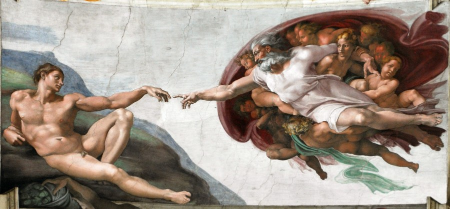pintura, miguel angel, la creacion, creacion, concepto, religion, catolico, capilla sixtina, baticano, roma, italia, arte,